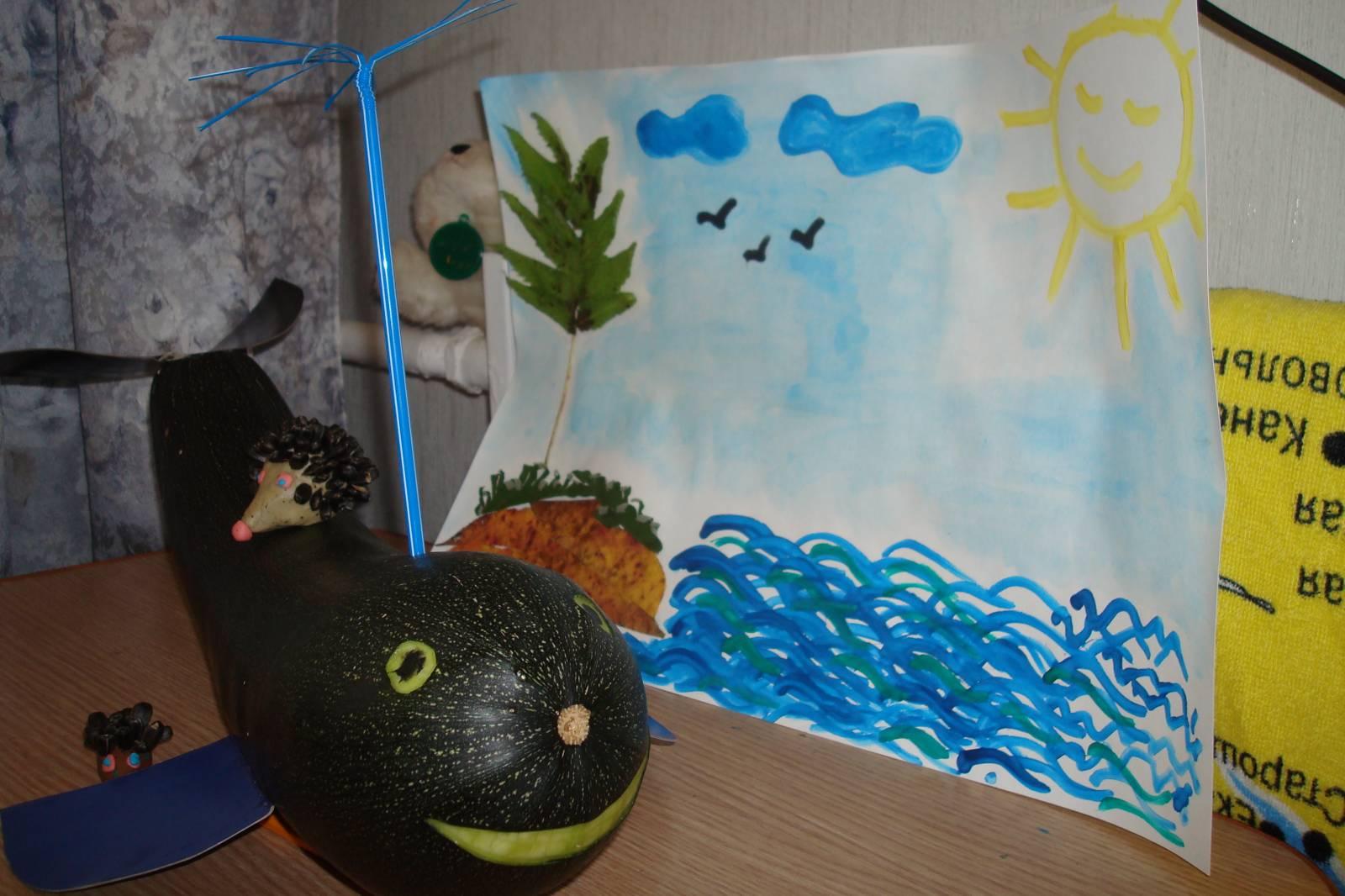 Поделки из кабачка для детского сада 55